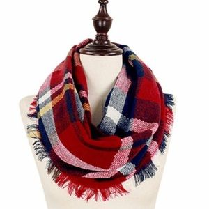 Accessories - Woven plaid infinity scarf